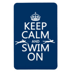 4'x6' Photo Magnet with Keep Calm and Swim On design