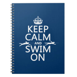 Keep Calm and Swim On Photo Notebook (6.5