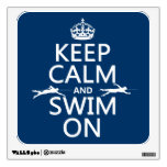 Keep Calm and Swim On (in any color) Room Graphic