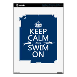 Amazon Kindle DX Skin with Keep Calm and Swim On design