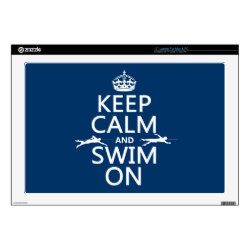 17' Laptop Skin for Mac & PC with Keep Calm and Swim On design
