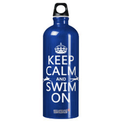 SIGG Traveller Water Bottle (0.6L) with Keep Calm and Swim On design