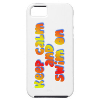 Keep Calm and Swim On iPhone SE/5/5s Case