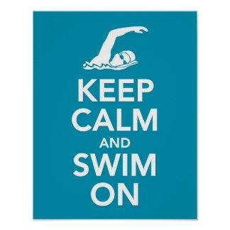 Keep Calm and Swim On print