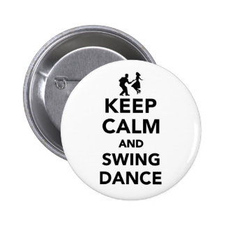 Keep calm and swing dance pinback button