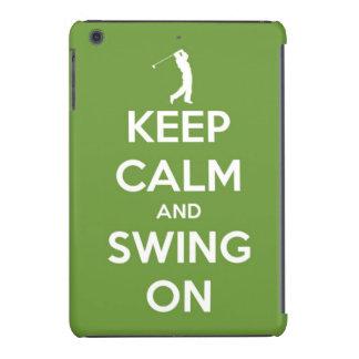 Keep Calm and Swing On Green iPad Mini Cases