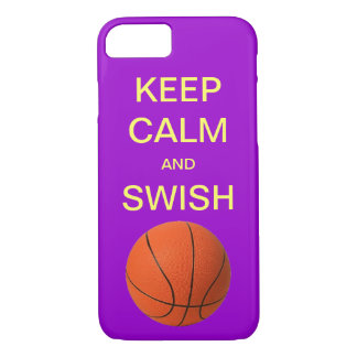 KEEP CALM AND SWISH BASKETBALL iPhone 7 case
