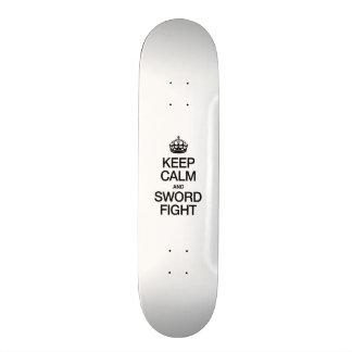 KEEP CALM AND SWORD FIGHT SKATE BOARD DECKS
