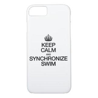 KEEP CALM AND SYNCHRONIZE SWIM iPhone 8/7 CASE