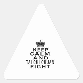 Keep Calm And Tai Chi Chuan Fight Triangle Sticker