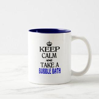 Keep Calm and Take a Bubble Bath Two-Tone Coffee Mug