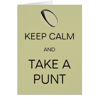Keep Calm and Take a Punt Card