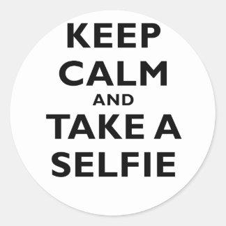Keep Calm and Take a Selfie Sticker