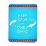 keep calm and take a xanax.  Or vice versa. Rectangular Photo Magnet