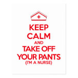 Keep Calm and Take Off Your Pants Post Cards