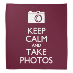 Bandana with Keep Calm and Take Photos design