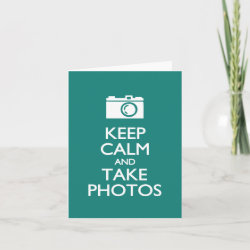 with Keep Calm and Take Photos design