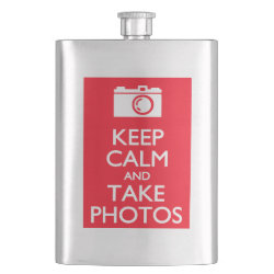 Stainless Steel Flask with Keep Calm and Take Photos design