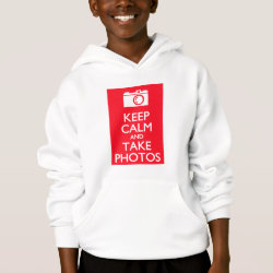 Girls' American Apparel Fine Jersey T-Shirt with Keep Calm and Take Photos design