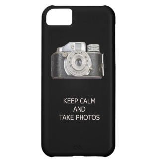 KEEP CALM AND TAKE PHOTOS iPhone 5C CASES