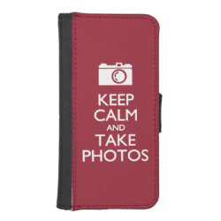 iPhone 5/5s Wallet Case with Keep Calm and Take Photos design