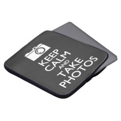 Neoprene Laptop Sleeve 15' with Keep Calm and Take Photos design