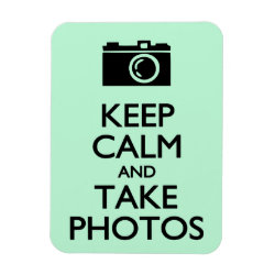 3'x4' Photo Magnet with Keep Calm and Take Photos design