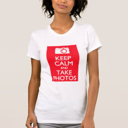 Women's American Apparel Fine Jersey Short Sleeve T-Shirt with Keep Calm and Take Photos design