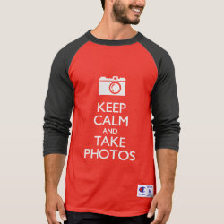 Men's Champion Raglan 3/4 Sleeve Shirt with Keep Calm and Take Photos design