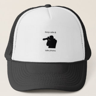 keep calm and take photos trucker hat