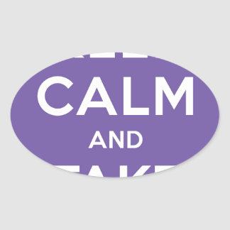 Keep Calm And Take Pictures Oval Sticker