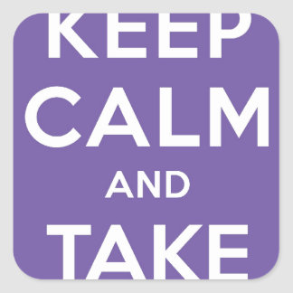 Keep Calm And Take Pictures Square Sticker