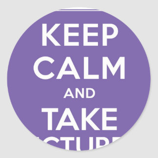 Keep Calm And Take Pictures Stickers