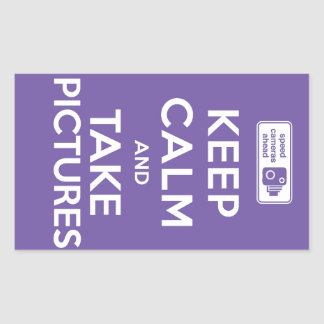 Keep Calm And Take Pictures Rectangular Stickers