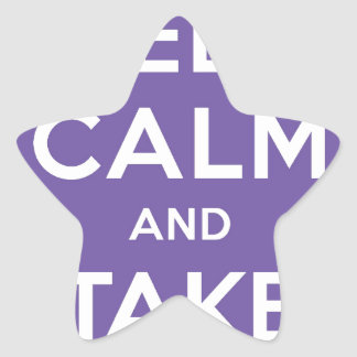 Keep Calm And Take Pictures Star Sticker