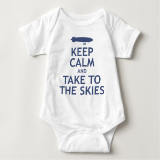 Keep Calm and Take to the Skies Baby Bodysuit