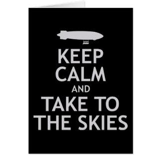 Keep Calm and Take to the Skies Card