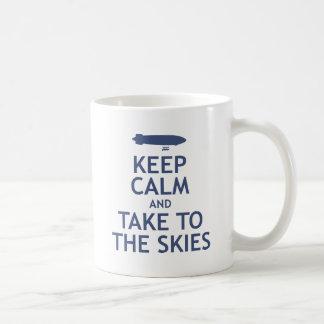 Keep Calm and Take to the Skies Coffee Mug
