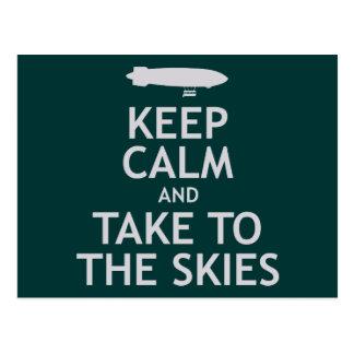 Keep Calm and Take to the Skies Postcard