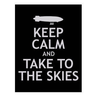 Keep Calm and Take to the Skies Postcard
