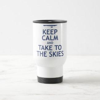 Keep Calm and Take to the Skies Travel Mug