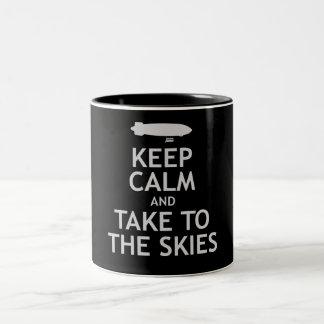 Keep Calm and Take to the Skies Two-Tone Coffee Mug