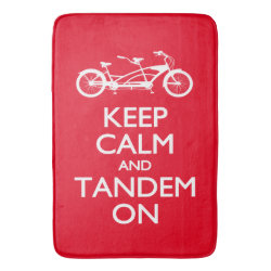 Large Bath Mat with Keep Calm and Tandem On design