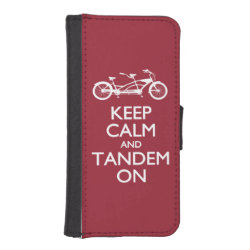 iPhone 5/5s Wallet Case with Keep Calm and Tandem On design