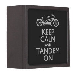 Medium (3' X 3') Gift Box with Keep Calm and Tandem On design