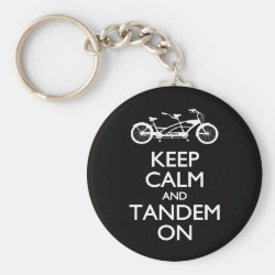 Basic Button Keychain with Keep Calm and Tandem On design