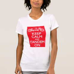 Women's American Apparel Fine Jersey Short Sleeve T-Shirt with Keep Calm and Tandem On design