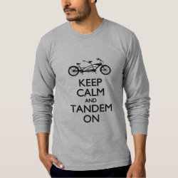 Men's American Apparel Fine Jersey Long Sleeve T-Shirt with Keep Calm and Tandem On design