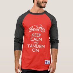 Men's Champion Raglan 3/4 Sleeve Shirt with Keep Calm and Tandem On design