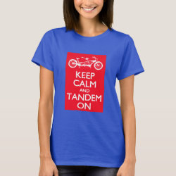 Women's Basic T-Shirt with Keep Calm and Tandem On design